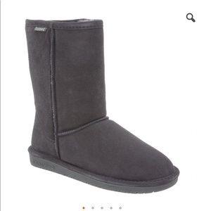 Short Gray Bearpaw Boots